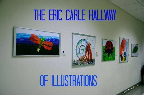Eric Carle Hallway of Illustrations - Learn Like A Mom! https://learnlikeamom.com/eric-carle-hallway-of-illustrations/ #ericcarleillustrations