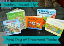 Reading Round Up: First Day of Preschool Books