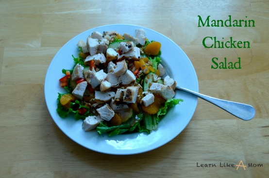 Mandarin Chicken Salad Recipe from Learn Like a Mom!