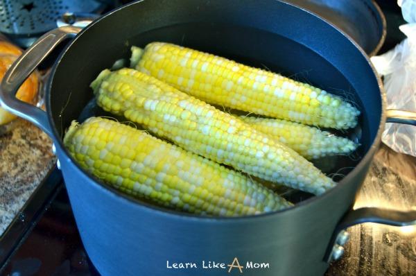 boil corn