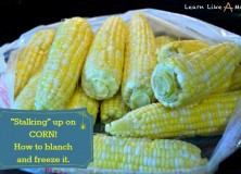 How to Blanch and Freeze Corn