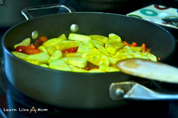 vegetables for pasta dish