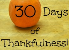Thirty Days of Thankfulness
