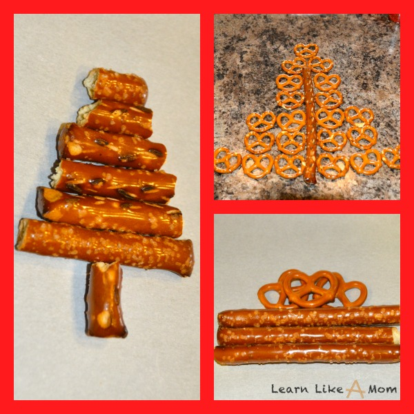 use pretzels to design your Santa Snacks