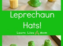 Banana and Chocolate Leprechaun Hats